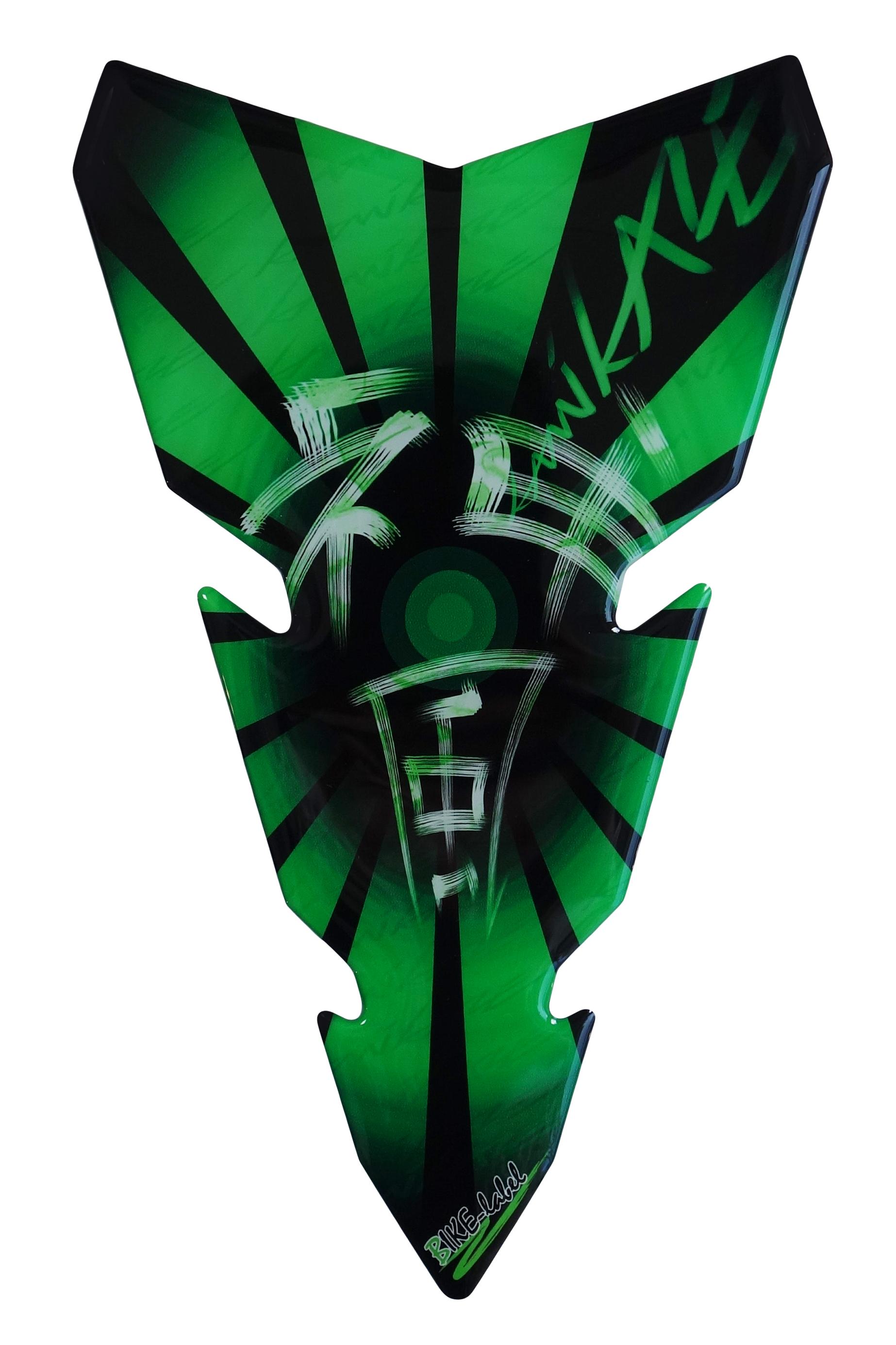 Tankpad 3D 500142 Ghost Green universeller Tank-Schutz Motorrad Aufkleber