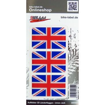 Aufkleber 3D Länder-Flaggen Union Jack - England