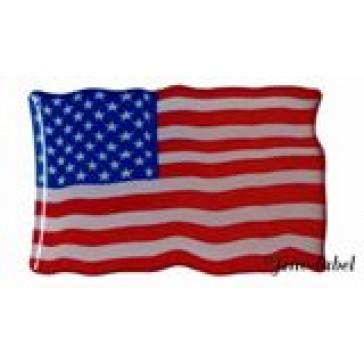 2x 3D Aufkleber USA Fahne 40 x 26 mm