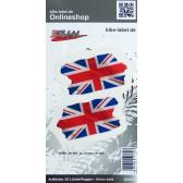 Aufkleber 3D Länder-Flaggen Union Jack - England 70 x 37 mm