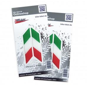 Aufkleber 3D Länder-Flaggen - Italien 100 x 20 mm (2er Set)