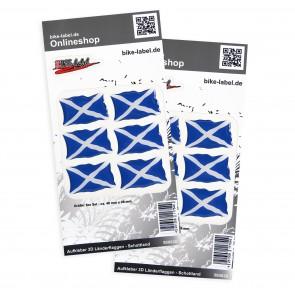 Aufkleber 3D Länder-Flaggen - Schottland 40 x 26 mm (2er Set)