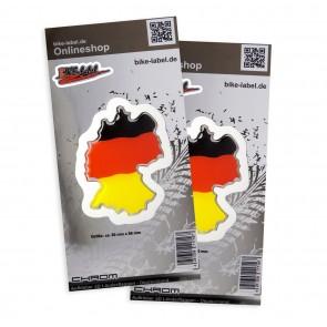 Aufkleber 3D Länder-Flaggen - Deutschland 60 x 80 mm (2er Set)