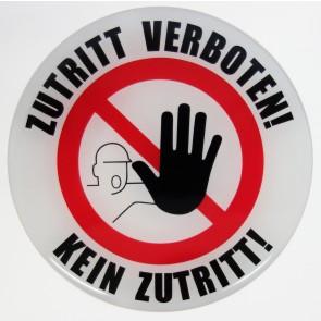 3D-Aufkleber Zutritt verboten! / Kein Zutritt! - exzellenter Wetterschutz, keine billigen Folienaufkleber