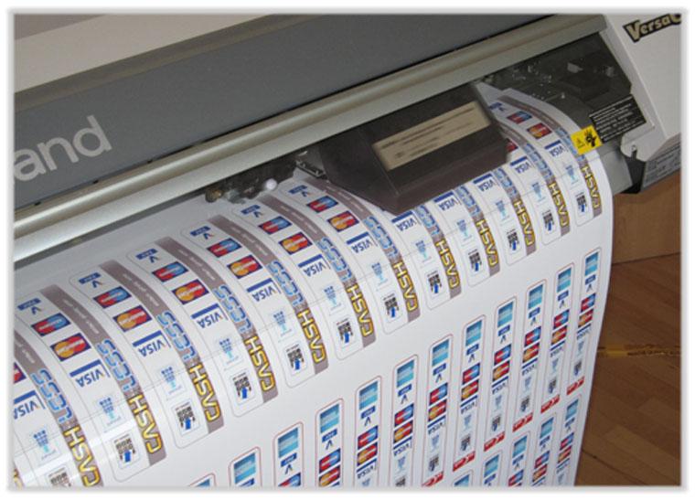 Digitaldurck-Verfahren für Aufkleber