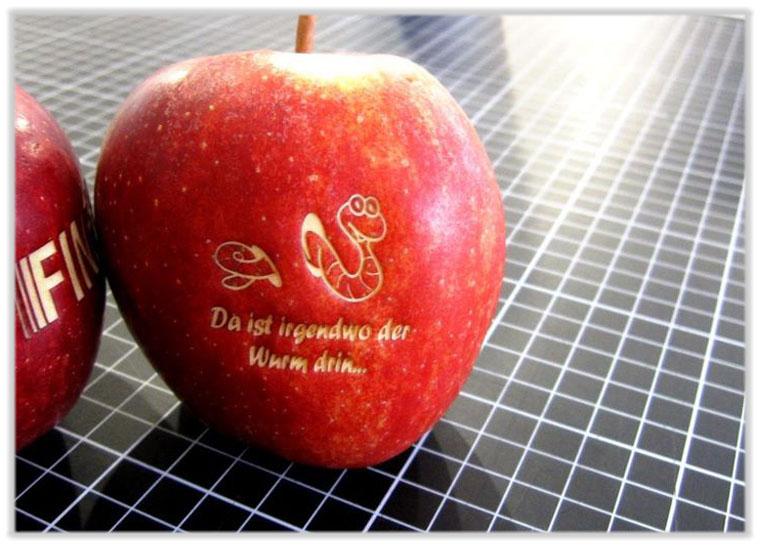 Lasergravur-Apfel