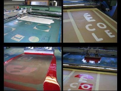 Siebdruck-Herstellungsschritte