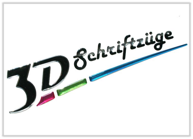 3D-Schriftzüge