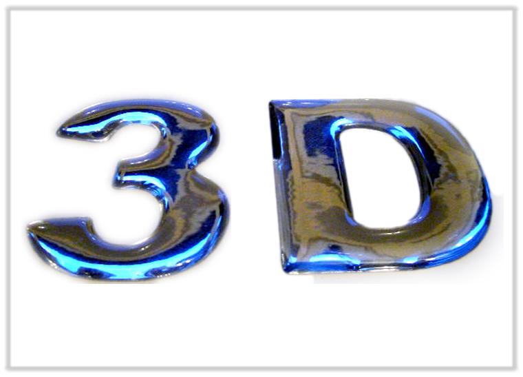 3D-Chrom-Schriftzug