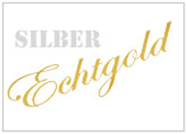Gold & Silber Schriftzüge