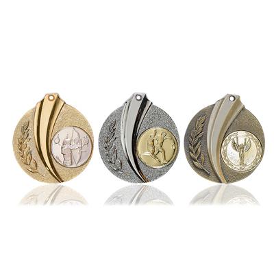 Medallien-Gold-Silber-Bronze-schweif