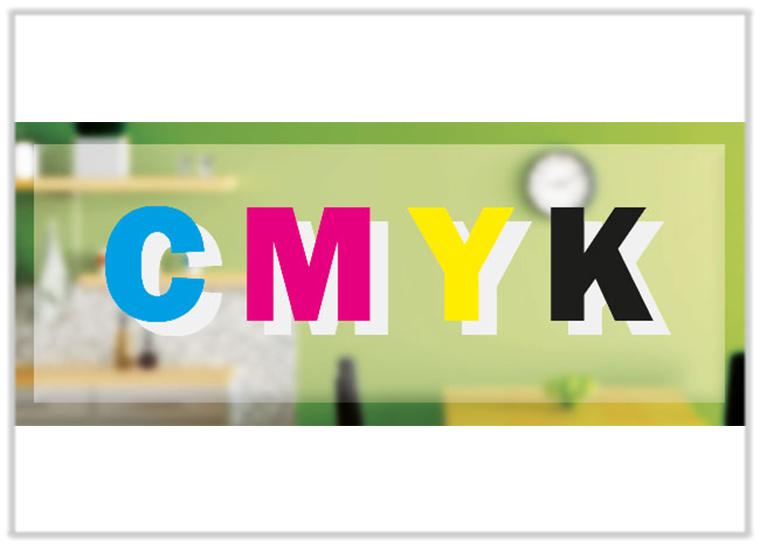 Folie wird mit Sonderfarbe Weiß im Digitaldruck bedruckt, anschließend normale Farbdruck